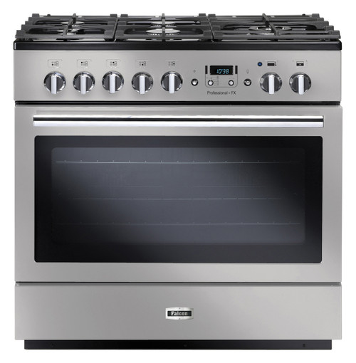 FALCON 90CM S/STEEL PROFESSIONAL FX DUAL FUEL FREESTANDING OVEN - PROP90FXDFSS/CH