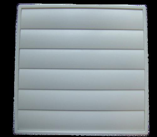DEFLECTO PLASTIC WALL VENT - GRAVITY LOUVERED - 200mm - MV200
