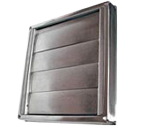 DEFLECTO STAINLESS STEEL WALL VENT - GRAVITY LOUVERED - 200mm - GVSS200B