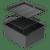 ABEY PIAZZA 390MM SQUARE SINGLE BOWL SINK - CR340 + COLOUR