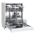 WESTINGHOUSE STAINLESS STEEL FREESTANDING DISHWASHER - WSF6602XA