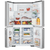WESTINGHOUSE 680L STAINLESS STEEL FRENCH DOOR FRIDGE WITH FLEXSPACE - WQE6870SA
