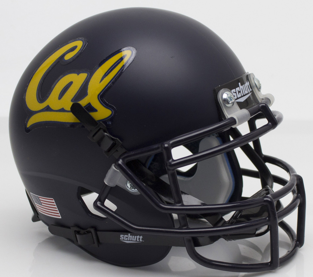 California (CAL) Golden Bears Mini XP Authentic Helmet Schutt Matte Navy