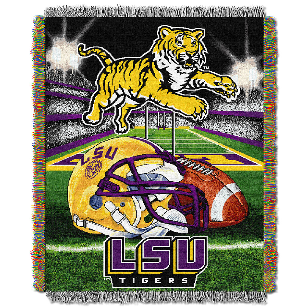 reputable site e03e3 dd1c4 Louisiana State Tigers (LSU) NCAA Woven Tapestry Throw (Home Field Advantage)  (48