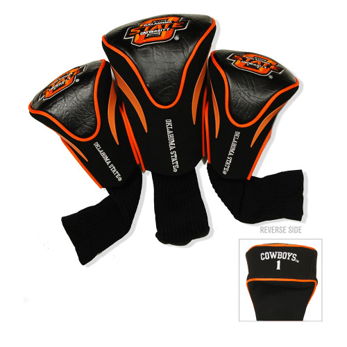 Oklahoma State Cowboys NCAA 3 Pack Contour Fit Headcover