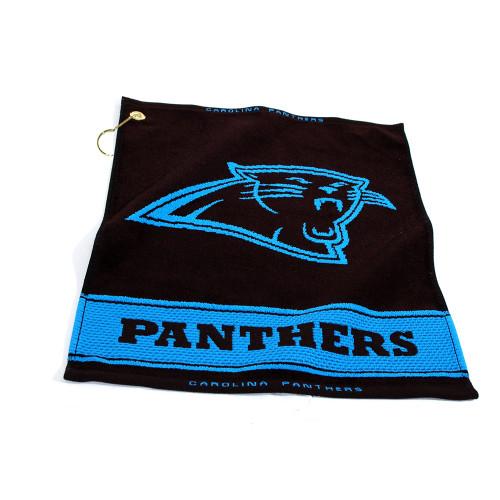 Carolina Panthers NFL Woven Golf Towel