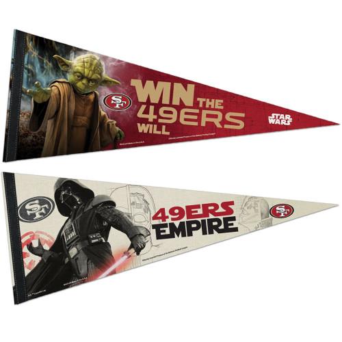 San Francisco 49ers NFL Star Wars Dark Side/Light Side Premium Pennant 2pc Set (12in. x 30in.)
