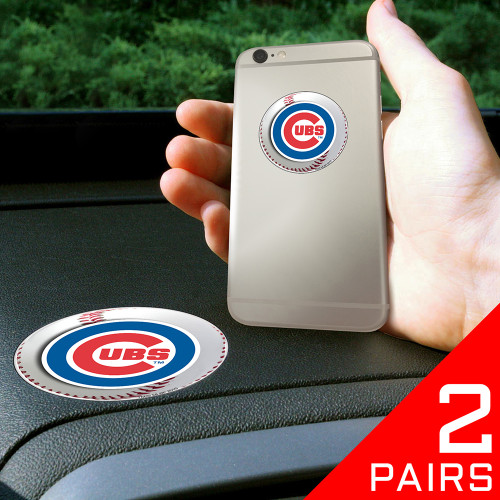 "Chicago Cubs MLB ""Get a Grip"" Cell Phone Grip Accessory (2 Piece Set)"