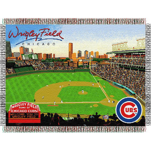 "Chicago Cubs MLB ""Wrigley Field"" Triple Woven Throw"