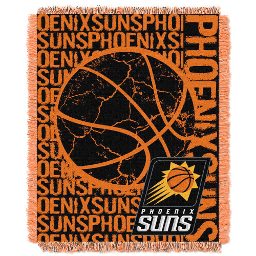 "Phoenix Suns NBA Triple Woven Jacquard Throw (Double Play Series) (48""x60"")"