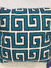Cushion - Blue and White in Meandros pattern
