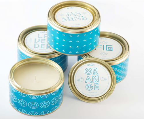 Waks Travel Candle - Scent Lavender