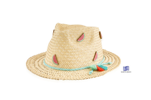 Straw Hat - Watermelon