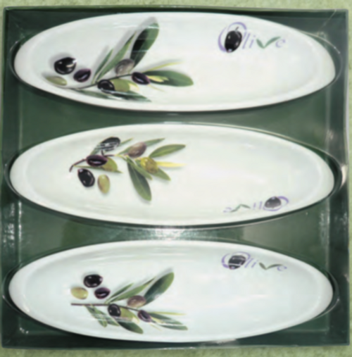 Porcelain Olive Dish Set 3 piece