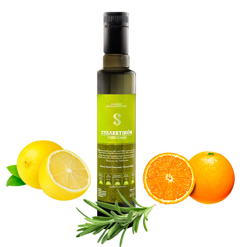 Syllektikon - Flavoured Organic Extra Virgin Olive Oil   with Oranges, Lemon and Thyme