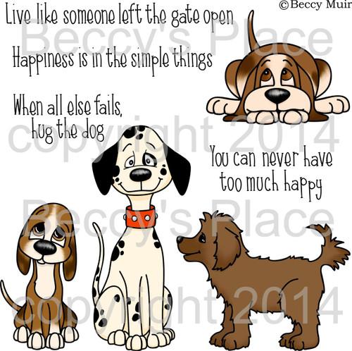 Dog Tales digital stamps