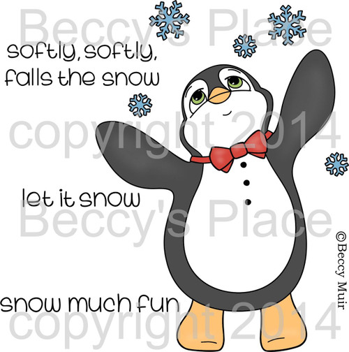 Finn in the Snow digital stamps