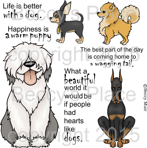 Dog Tales Too digital stamps