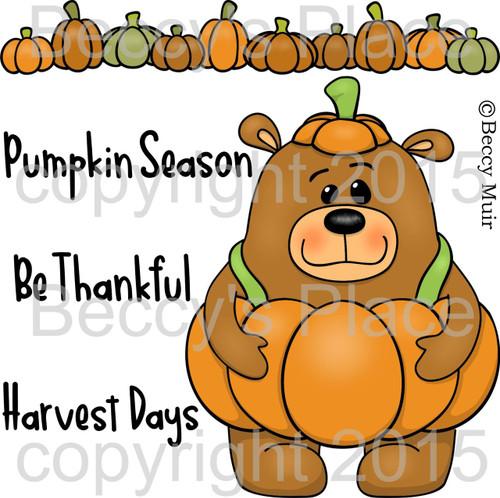 Stanley Pumpkin digital stamps