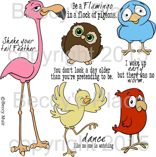 Feathered Friends digital stamps