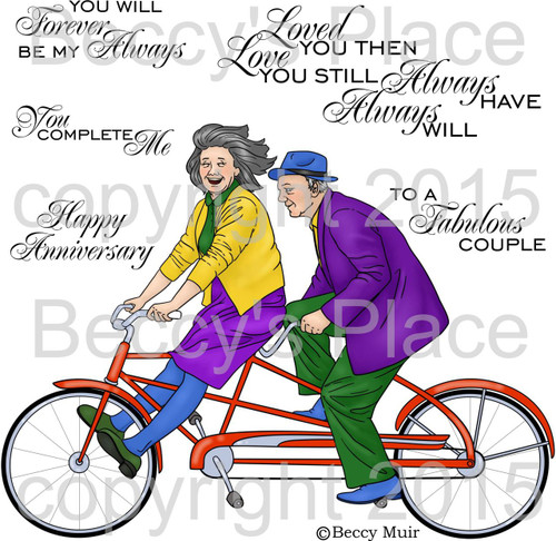 Happy Anniversary digital stamps