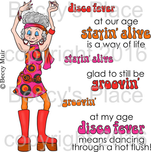 Disco Fever digital stamps