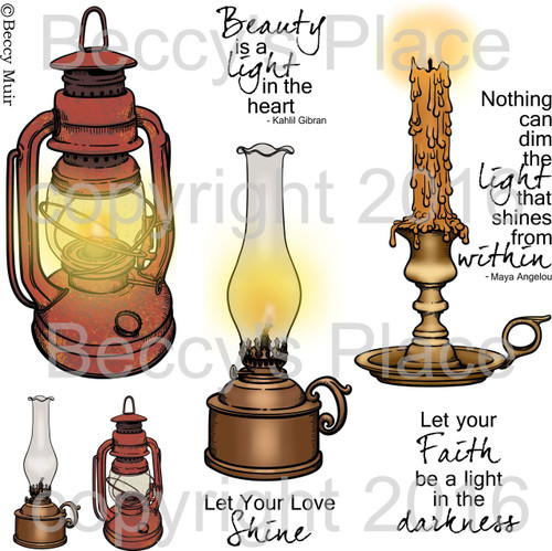 A Light in the Darkness digital stamps