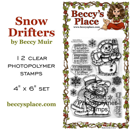 Snow Drifters clear stamps