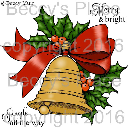 Golden Bell digital stamps
