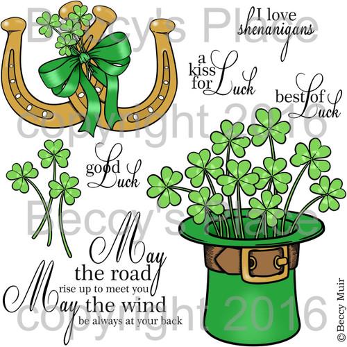 Irish Blessings digital stamps