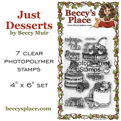 Just Desserts clear stamps