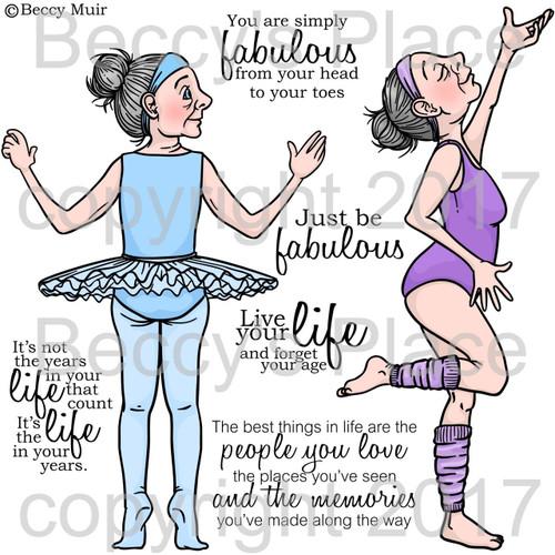 Dancing Queen digital stamps