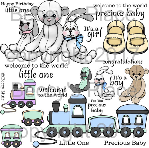 Precious Baby digital stamps