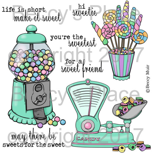 Candy Shoppe digital stamps