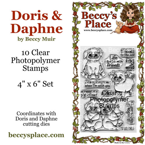 Doris and Daphne clear stamps