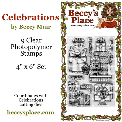 Celebrations clear stamps