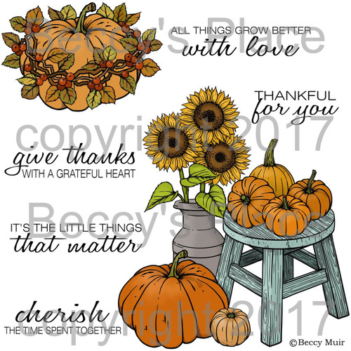 Autumn Blessings digital stamps