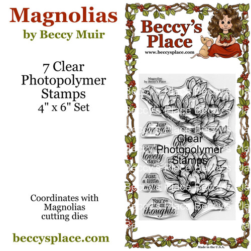 Magnolias clear stamps