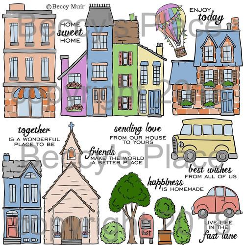 My Neighbourhood digital stamps