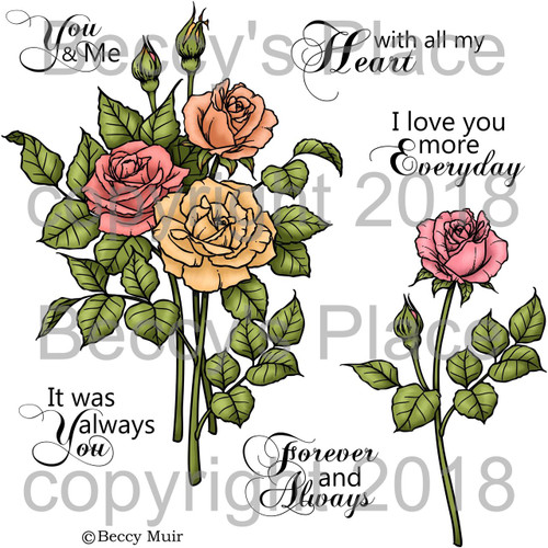 WithAll My Heart digital stamps