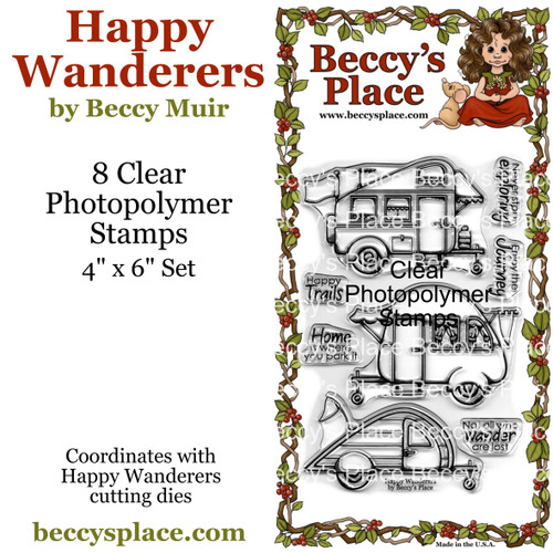 Happy Wanderers clear stamp set