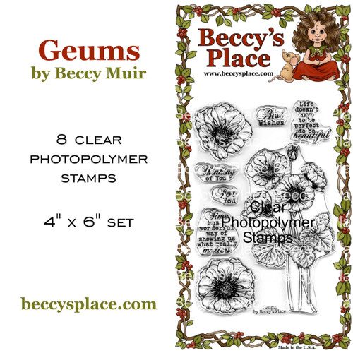 Geums clear stamps