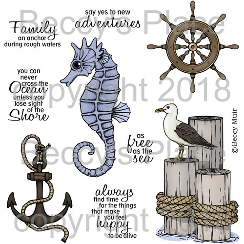 Smooth Seas digital stamps