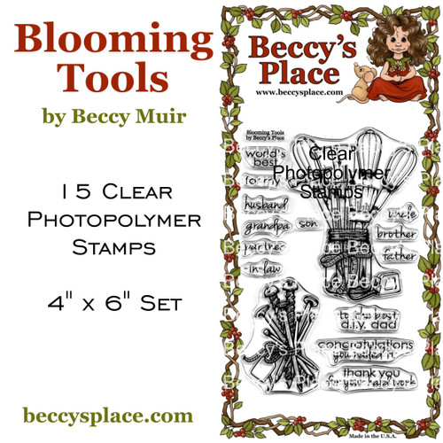 Blooming Tools clear stamp set