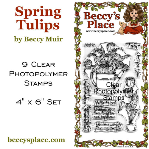 Spring Tulips clear stamps