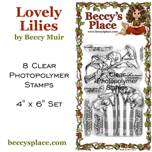 Lovely Lilies clear stamps