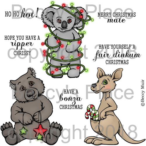 Aussie Christmas digital stamps