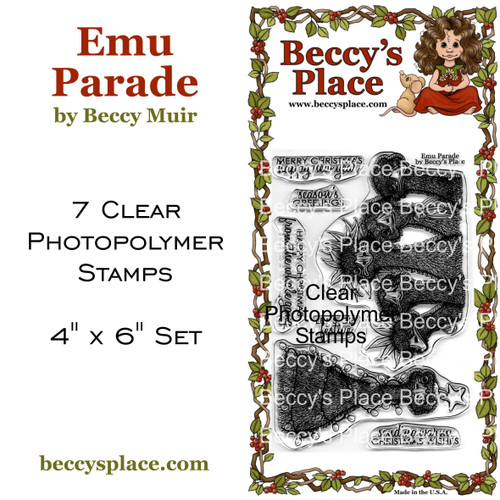 Emu Parade clear stamps