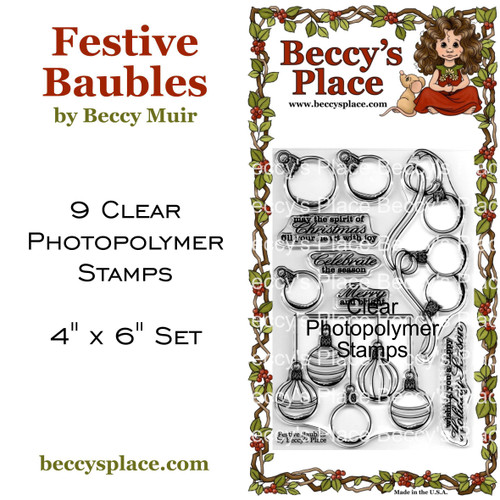 Festive Baubles clear stamps