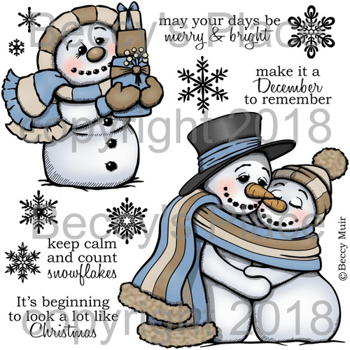 Snow Drifters digital stamps